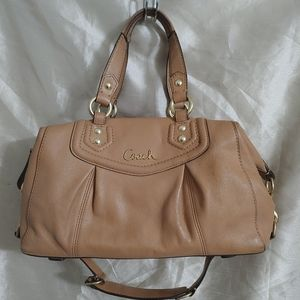 Coach Ashley Wheat/Light Tan Leather Satchel Bag